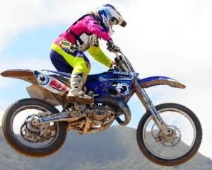 Otago's Courtney Duncan (Yamaha YZ125), who stunned with her winning performance in California at...