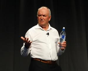 Sir Graham Henry speaks at the New Zealand Principals' Federation Conference in Queenstown...
