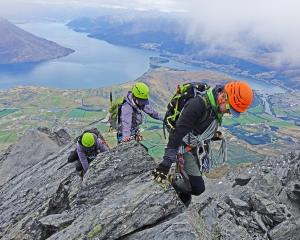 Kingston's Cameron Walker guides climbers on the Remarkables mountain range.