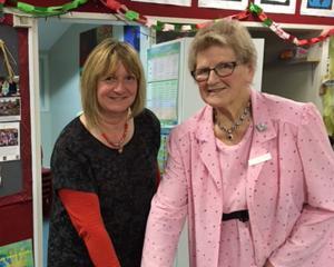 Margaret Brookes, an original Reid Park Kindergarten foundation committee member and her daughter...
