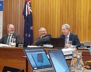 Southland Water and Land Plan hearing panel (from left) Environment Southland councillors Lloyd...