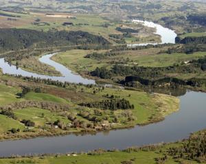 The Waikato River winds its way towards the sea. Photo by the Waikato Times.