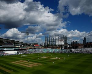 Tthe match between Surrey and Middlesex country cricket teams, at London's Oval, was halted after...