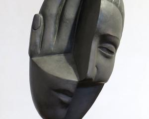 Hand Caressing Woman's Head, by Terry Stringer