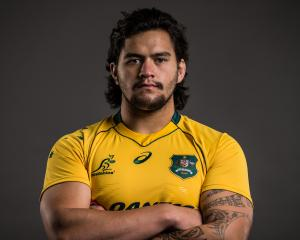 Tyrel Lomax poses for a headshot during the Australian Wallabies Player Camp in April. Photo:...