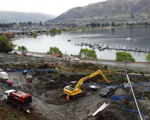 Debris from a landslip which  closed a section of Lakeside Rd in Wanaka for more than a week was...