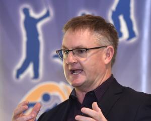 Wayne Goldsmith talks to a group of local sports coaches at the Otago Regional Sports ForuM at...
