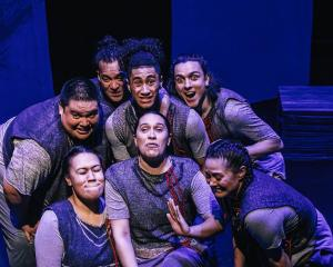 Denyce Su'a (front left) with the rest of the cast of The Wholehearted. Photo: Supplied