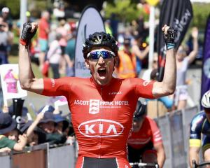 Aucklander Taylor Gunman takes stage honours on day three of the 2017 Tour of Southland. PHOTO:...