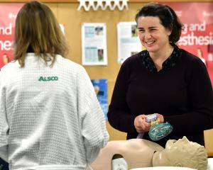 Dunedin Hospital anaesthetist Julie Thompson (right) demystifies the procedure to patient Jane...
