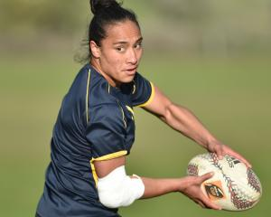 Otago Spirit No 8 Angie Sisifa at practice on Thursday evening. Photo: Gregor Richardson