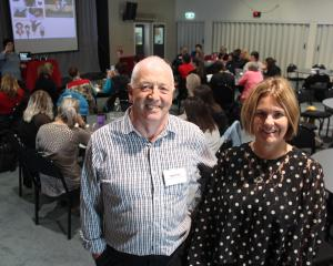 Kahui Ako executive principal Paddy Ford and Vision Education director Alison Davis at the...