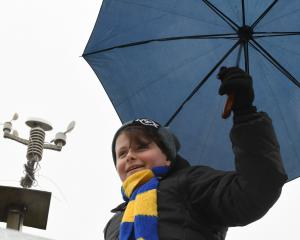 Mosgiel weather forecaster Ben Hawke (13), who has a loyal following for his daily forecasts.