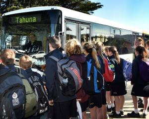 These Tahuna Intermediate School pupils travelling to Portobello would be affected by a loss of...
