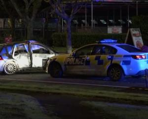Police began a pursuit when the speeding vehicle refused to stop. While overtaking, the vehicle...
