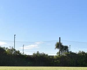 The safety net protecting the St Kilda Bowling Club green from the big hits from the neighbouring...