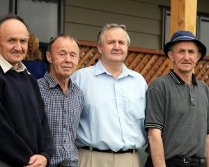 Dennis brothers - Ray, Joe, Martin, Tony Dennis. Photo: ODT
