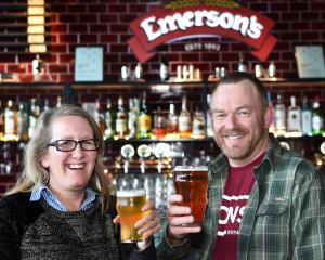 Emerson's Taproom and Restaurant venue manager Charlotte Janssen  and general manager Chris O...