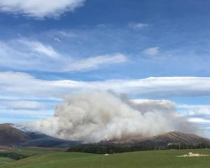 The burn-off in the Te Anau district. Photo / Te Anau Volunteer Fire Brigade