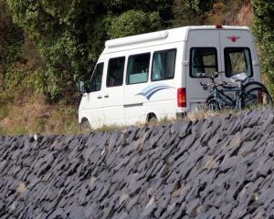 A camper van in Dunedin. Photo: ODT.