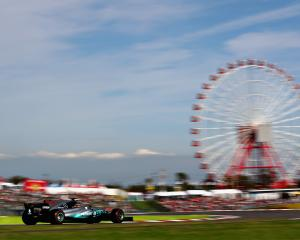 Lewis Hamilton has taken out the Japan Grand Prix. Photo:Getty Images