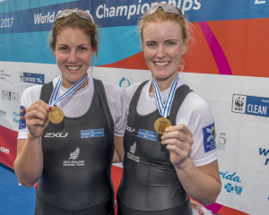 Kerri Gowler and Grace Prendergast are New Zealand's latest rowing world champions.Photo:NZME