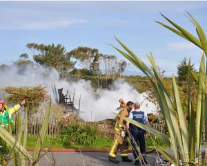 The house was completely destroyed in the fire. Photo / Supplied