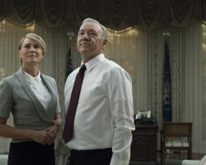 Robin Wright and Kevin Spacey as Claire and Frank Underwood in 'House of Cards'. Photo: Reuters