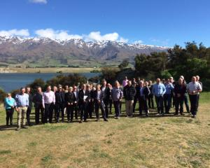 Attendees at the South Island Mayors Conference in Cromwell familiarise themselves with the...