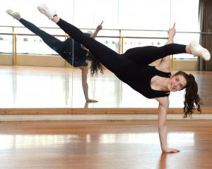Jade Fielding  trains at the OUSA dance room earlier this week as she prepares for the FISAF...