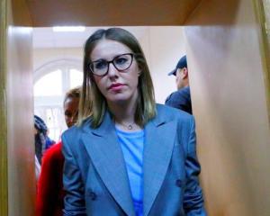 Russian TV personality Ksenia Sobchak. Photo: Reuters