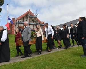 Kuao Langsbury leaves Otakou marae for the last time. Led by Anglican South Island Maori Bishop...
