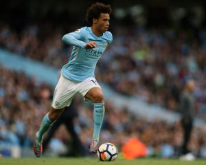 Manchester City's Leroy Sane in action against Stoke. Photo: Getty Images