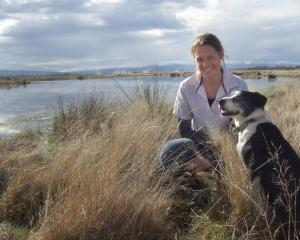 Maniototo farmer Emma Crutchley and her dog Trixie. PHOTOS: SALLY RAE