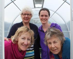 Balclutha Community Garden committee members (clockwise from top left) Beatrice Pratt, Gill...