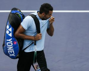 Nick Kyrgios leaves the court at the Shanghai Masters earlier this week. Photo: Reuters