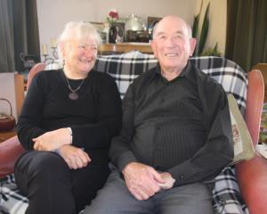 Oamaru couple Marian and Stuart Renalson prepare to celebrate their 60th wedding anniversary...