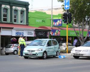 Emergency services at the scene after the accident. Photo ODT