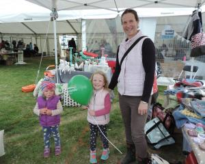 All ages are catered for at the East Otago Field Days, as Dunback's Julie Kearney and daughters...