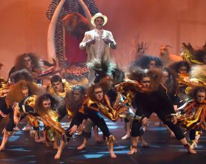 Stellar performance . . . Logan Park High School performs its winning routine during the 2017...