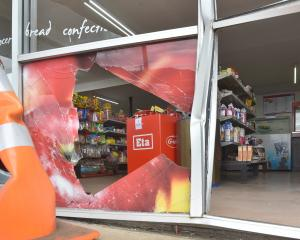 The On the Spot store in Waitati was badly damaged in a burglary this morning. PHOTO: PETER...