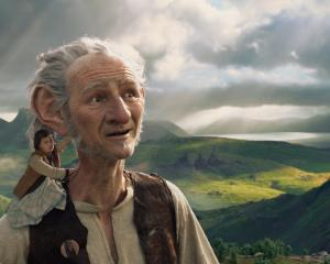 Mark Rylance and Ruby Barnhill in the 2016 Steven Spielberg-directed BFG. Photo: supplied
