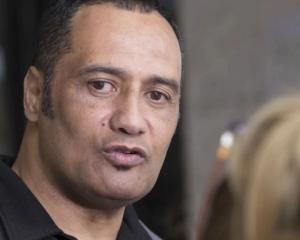 Inspector Hurimoana Dennis leaving the Auckland District Court last year. Photo: NZ Herald