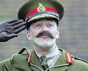A fan of gobbledygook, Stephen Fry as General Melchett