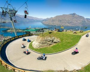 Skyline's Queenstown luge. Photo Skyline Enterprises