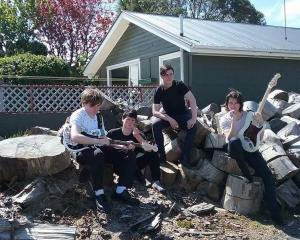 Dunedin high school punk band Sugarcoated Bullets.Photo: Supplied