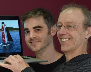 Animation Research Ltd animators Mark McQuillan (left) and Ken Gorrie reveal the graphics and...