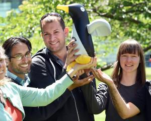 University of Otago researchers (from left) Christina Hulbe, Sergio Morales, Christian Ohneiser,...