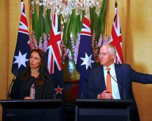 New Zealand Prime Minister Jacinda Ardern and Australian Prime Minister Malcolm Turnbull. Photo:...