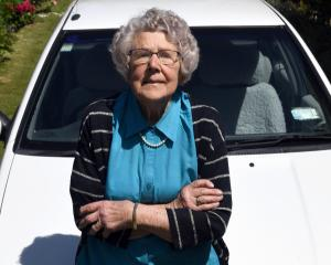 No stopping her ... Bessie Pearson (101) still regularly drives around Ranfurly. PHOTO: CRAIG BAXTER